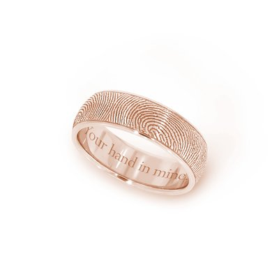 6mm Half Round Fingerprint Ring